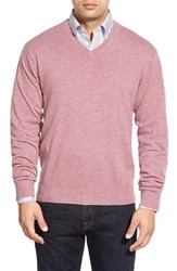 Men's Peter Millar High Twist Cashmere V Neck Sweater Orchid