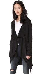 Superfine Fine By Flight Wrap Cardigan Black