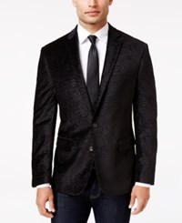 Ryan Seacrest Distinction Men's Slim Fit Black Paisley Evening Jacket Only At Macy's