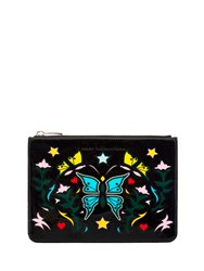 Mary Katrantzou Butterflypouchnappaleather Black