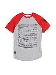Buffalo David Bitton Boy's Raglan Cotton Tee Light Grey Heather