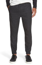 Men's Vince Leather Trim Jogger Pants