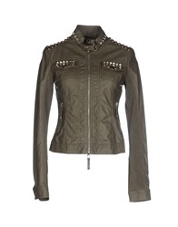Scee By Twin Set Coats And Jackets Jackets Women Military Green
