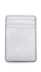 Marc By Marc Jacobs Metallic Card Holder Silver