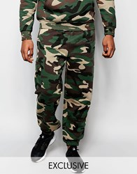 Reclaimed Vintage Camo Joggers Green