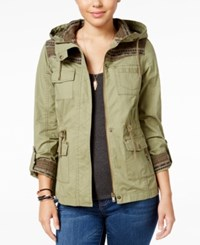 American Rag Knit Trim Hooded Parka Only At Macy's Olive