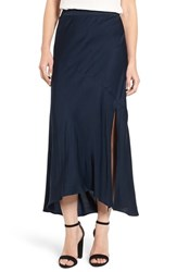 Trouve Women's Bias Cut Satin Skirt