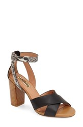 Women's Halogen 'Haley' Crisscross Strap Sandal Black Leather