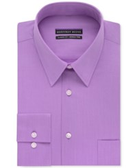 Geoffrey Beene Non Iron Bedford Cord Solid Dress Shirt Light Purple