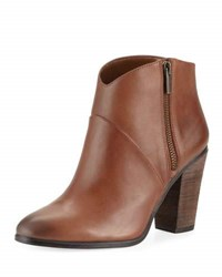 Vince Camuto Felise Leather Zip Up Bootie Dark Brown