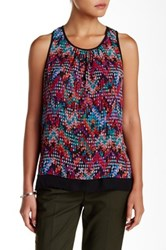Daniel Rainn Double Layered Printed Tank Blouse Multi