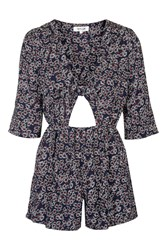 Wyldr Twin Shadow Daisy Playsuit By Navy Blue