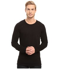 Agave Lookout Long Sleeve Slub Color Block Black Men's Long Sleeve Pullover
