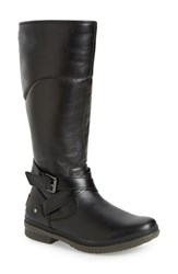 Uggr Women's Ugg 'Evanna' Riding Boot Black Leather