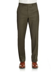 Lauren Ralph Lauren Flat Front Dress Pants Olive