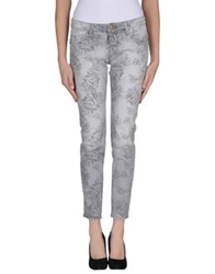 Shine Denim Pants Grey