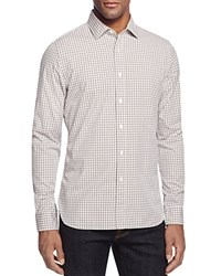 Bloomingdale's The Men's Store At Two Tone Gingham Slim Fit Button Down Shirt Chocolate