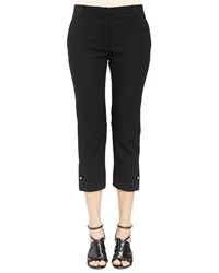 Lanvin Ankle Pants With Stud Cuff Detail Black