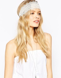 Asos Daisy Lace Headband White