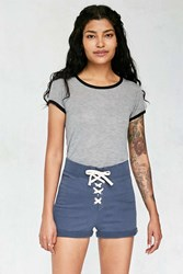 Bdg Lace Up Terry Short Navy