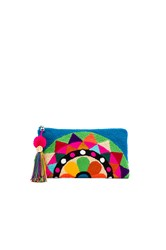 The Way U Carousel Turquoise Clutch Blue