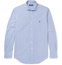 Polo Ralph Lauren Slim Fit Checked Cotton Shirt Blue