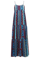 Gaudi Maxi Dress Poppy Red Blue