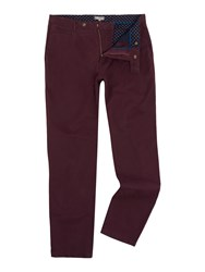 Linea Russell Cotton Chinos Burgundy