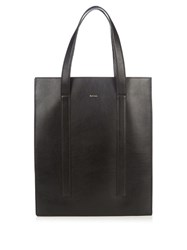 Paul Smith Leather Tote Black Multi