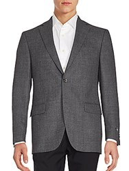 Saks Fifth Avenue Woolen Long Sleeve Jacket Grey