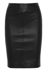 Joseph Clara Stretch Leather Pencil Skirt Black
