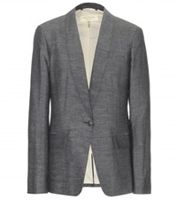 Rag And Bone Natalie Cotton And Hemp Blazer Blue