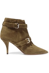 Tabitha Simmons Fitz Suede Ankle Boots Army Green