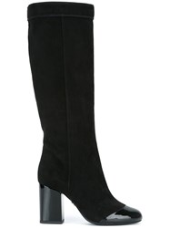 Lanvin Pull On High Heel Boot Black