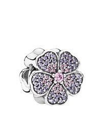 Pandora Design Pandora Charm Sterling Silver And Cubic Zirconia Sparkling Primrose Moments Collection Pink Purple