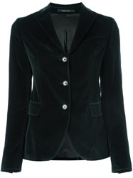 Tagliatore Velvet Fitted Jacket Green