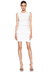 Etoile Isabel Marant Isabel Marant Etoile Shelly Drop Cotton Blend Knit Dress In White