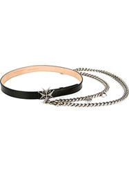 Alexander Mcqueen Chain And Charm Belt Black