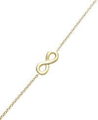 Studio Silver Infinity And Chain Bracelet In 18K Gold Over Sterling Silver
