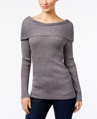 Inc International Concepts Boat Neck Sweater Only At Macy's Silver