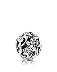 Pandora Design Pandora Charm Sterling Silver And Cubic Zirconia Dragonfly Meadow Moments Collection