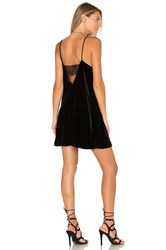 Cami Nyc Back Lace Velvet Dress Black
