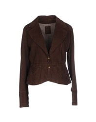 Yes London Suits And Jackets Blazers Women Dark Brown