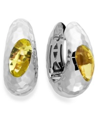 The Fifth Season By Roberto Coin Sterling Silver Earrings Lemon Quartz Capriplus Hoop Earrings 4 1 4 Ct. T.W.