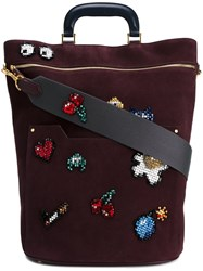 Anya Hindmarch 'All Over Stickers' Shoulder Bag Pink And Purple