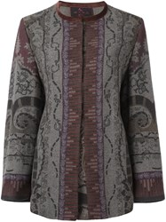 Etro Open Front Coat Grey