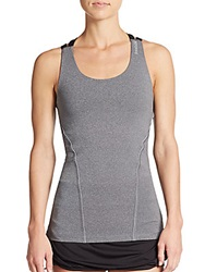 Reebok Endurance Seamed Racerback Tank Top Charcoal