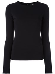Dsquared2 Fitted Long Sleeved Blouse Black