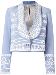 Temperley London 'Voyage' Jacket Blue