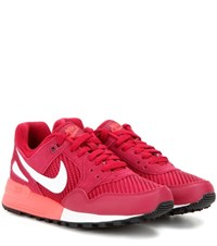 Nike Air Pegasus '89 Fabric And Leather Sneakers Red